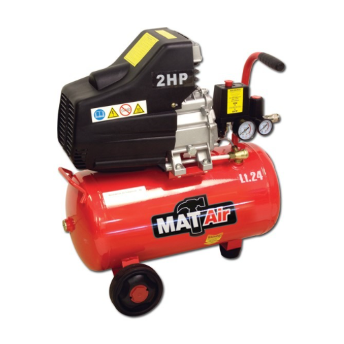 MATAIR DIRECT DRIVE AIR COMPRESSOR - 24 LITRE SINGLE STAGE - HOBBY