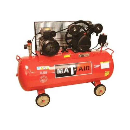 MATAIR BELT DRIVE AIR COMPRESSOR - 100 LITRE SINGLE STAGE