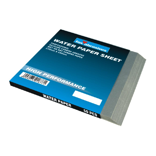 FOX ABRASIVE WATER PAPER SHEET 230 x 280MM - WET OR DRY