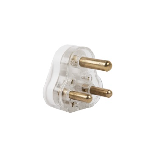 ELECTRICMATE SOLID BRASS PIN PLUG TOP 16AMP