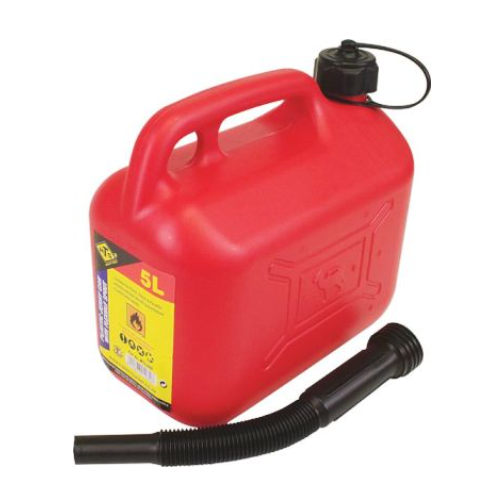 MTS 5 LITER PLASTIC JERRY CAN WITH SPOUT