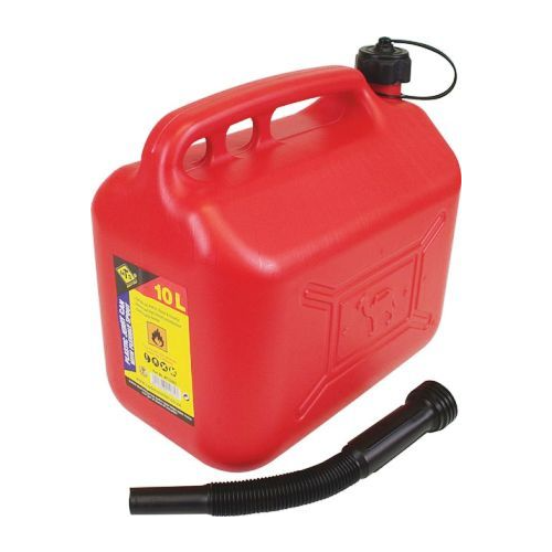 MTS 10 LITER PLASTIC JERRY CAN WITH SPOUT