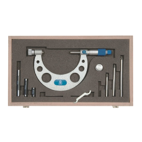 MOORE & WRIGHT OUTSIDE MICROMETER WITH INTERCHANGEABLE ANVILS SET 0 - 150MM X 0.01MM MAW-217-02
