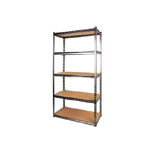 MTS STEEL STORAGE FRAME WITH WOODEN SHELVES