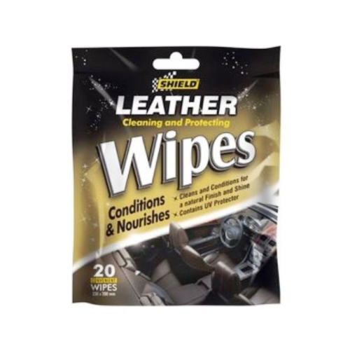 SHIELD LEATHER CLEANING AND PROTECTING WIPES 20 PACK SH151