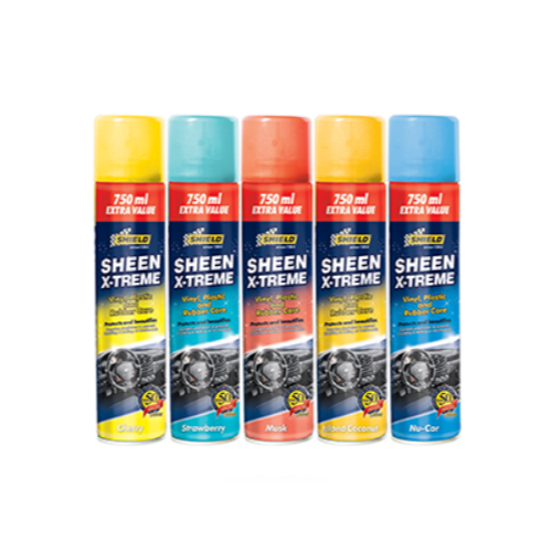 SHIELD SHEEN XTREME VINYL, PLASTIC AND RUBBER CARE SPRAY 750ML