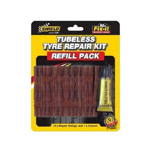 SHIELD TUBELESS TYRE REPAIR KIT REFILL PACK SH778