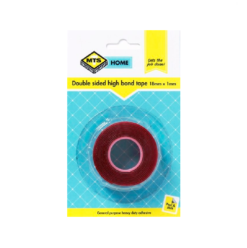 MTS HOME DOUBLE SIDE HIGH BOND TAPE 18MM X 1MM X 1M