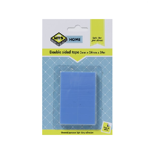 MTS HOME DOUBLE SIDED TAPE SQUARES 3MM X 24MM X 24MM