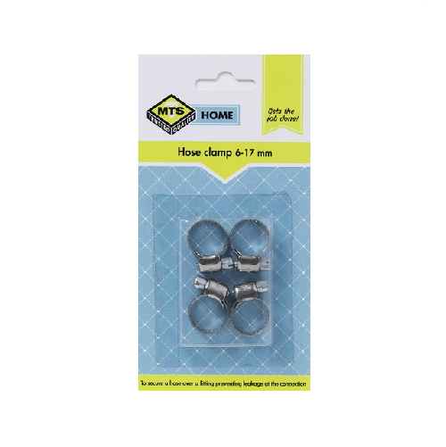 MTS HOME HOSE CLAMP 6-17MM 4 PIECE