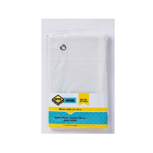 MTS HOME PVC WHITE SHOWER CURTAIN