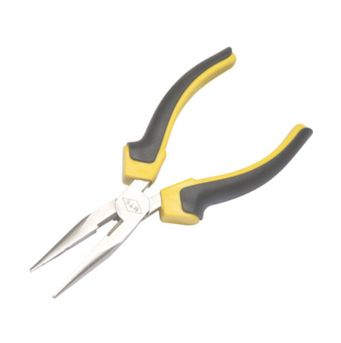 MTS LONG NOSE PLIER WITH YELLOW & BLACK HANDLE