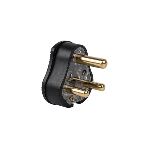 ELECTRICMATE HEAVY DUTY SOLID BRASS PIN WITH RUBBER TOP