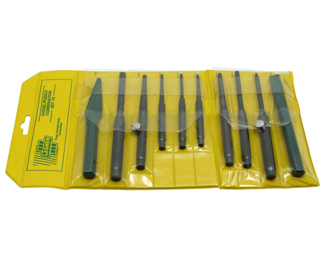 LASHER PUNCH AND CHISEL SET SET 10 PIECE P10 FG03290