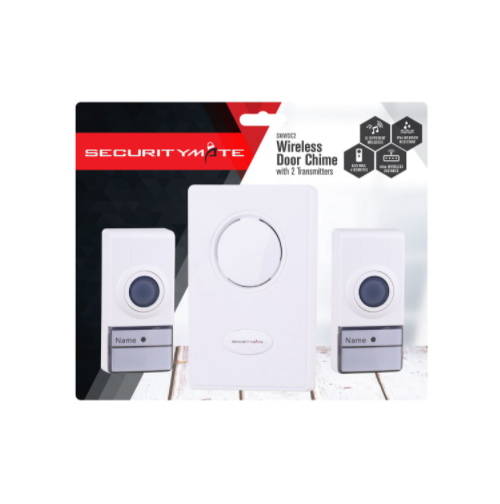 SECURITY WIRELESS DOOR CHIME 120M 2 X TRANSMITTERS
