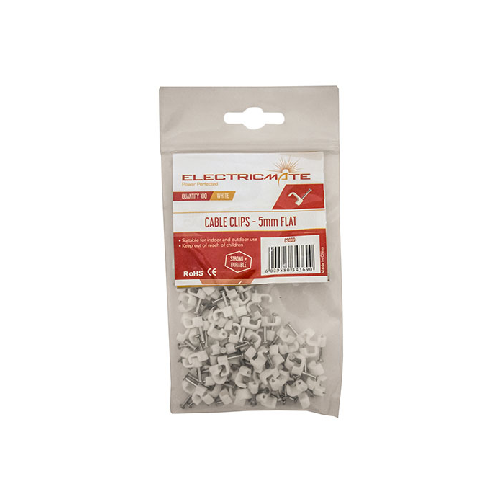 FLAT CABLE CLIPS PACK OF 100