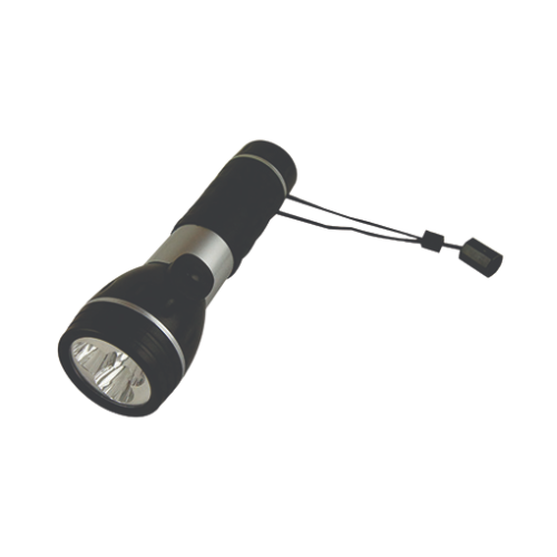 PLASTIC ABS TORCH WITH RUBBER GRIP 2XD