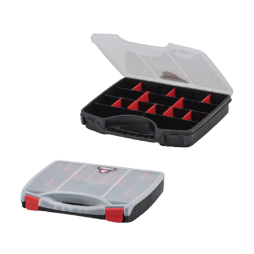 ORGANISER BOX RED AND BLACK