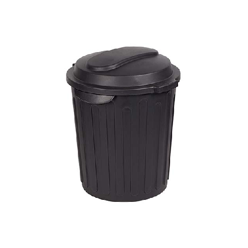 60 LITRE ROUND BLACK REFUSE BIN