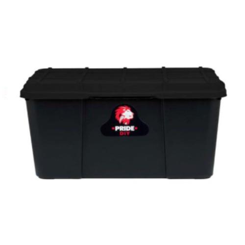 BLACK SQUARE STORAGE BOX WITH LID