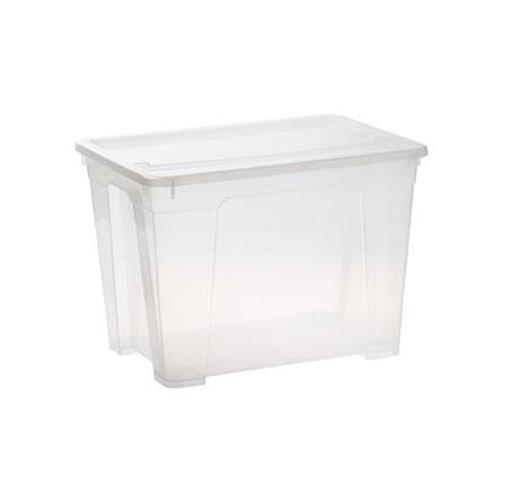 STORAGE BOX CLEAR 65L