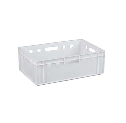 HEAVY DUTY WHITE STACKABLE CRATE 197MM X 600MM X 390MM