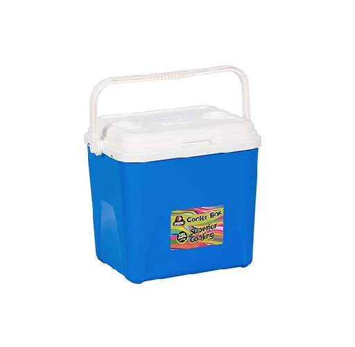 25 LITRE BLUE COOLER BOX WITH HANDLE
