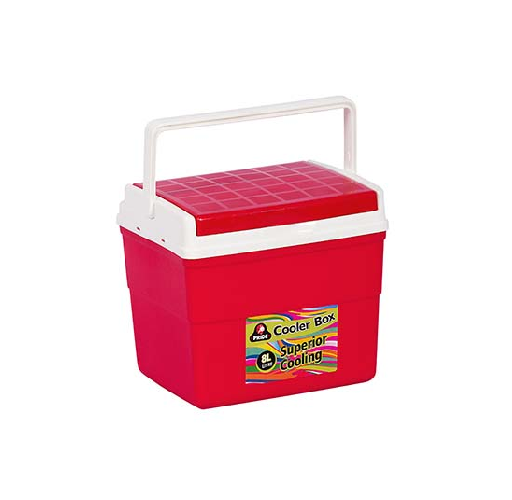 8 LITRE RED COOLER BOX WITH HANDLE